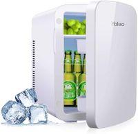 YOLEO mini-kühlschrank 15L Edelstahl, Warmhaltebox Kühlbox Auto mit Kühl- und Heizfunktion, 065 ℃ Temperatureinstellbar, für Schlafzimmerbüro RV Auto, für Getränk Kosmetik Milch