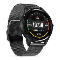 Abtel Smartwatches IP68 Blutdruck-Herzfrequenzmesser Fitness Tracker,Farbe: Schwarzer Stahl