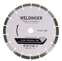 WELDINGER Diamant-Trennscheibe Ø 230 mm x 22,23 mm Beton