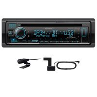 KENWOOD KDC-BT740DAB USB Autoradio Bluetooth Digitalradio MP3 inkl DAB Antenne