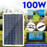 100W Solarpanel Solarmodul Ladegerät für Wohnwagen Camping Auto +80A Solar Laderegler
