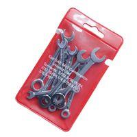10-tlg. Maulschlüssel-Schlüsselsatz Mini-Schlüsselsatz Englisches System-Set Silber Englisch System Set