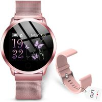 GOKOO Smartwatch Fitness Tracker Armbanduhr Aktivitätstracker Damen Frauen mit Pulsmesser IP67 Wasserdicht Uhren Schlafmonitor Schrittzähler für Android IOS