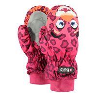 Barts Kinder Mädchen Fäustlinge Nylon Mitts Kids Leopard Orange Tiermotiv (pink), Größe:5