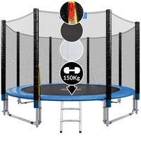 Monzana Trampolin | Ø 305 cm | Komplettset inkl. Sicherheitsnetz, Leiter, Randabdeckung & Zubehör | Kindertrampolin Gartentrampolin