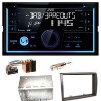 JVC KW-DB93BT USB MP3 Bluetooth CD DAB+ Einbauset für Fiat Ducato Boxer Jumper