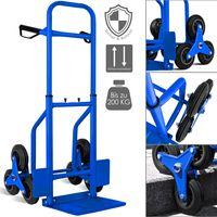 Masko® Treppenkarre Sackkarre 200kg Transportkarre Treppensteiger Stapelkarre, Farbe:Blau