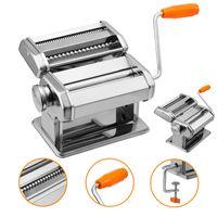 karpal Nudelmaschine Manuell Pastamaschine Pasta Maker Kitchen aid Pasta Maschine Edelstahl fuer Spaghetti, Lasagne, Tagliatelle