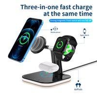 3 in 1 Magnetische Drahtlose Ladegerät 15W Schnelle Ladestation für Magsafe iPhone 12 pro Max Ladegeräte für Apple uhr Airpods pro