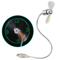 Hama USB Ventilator mit Uhrzeitanzeige Laptop/ Notebook Zubehör flexibel USB Fan