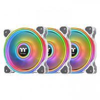 Thermaltake Riing Quad 14 RGB Computergehäuse Ventilator 14 cm Weiß  THERMALTAKE Produktfarbe: Weiß, Typ: Ventilator, Kompatible Prozessoren: Nicht unterstützt, Geeignet für: Computergehäuse, Lüfterdurchmesser: 14 cm, Unterstützte Prozessorsteckplätze: Nicht unterstützt