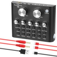 Audio USB Headset Mikrofon Webcast Live Soundkarte Elektrische Soundš¹bertragung fš¹r Telefon Computer PC