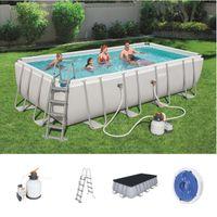 Bestway Power Steel™ Frame Pool Komplett-Set, eckig 549x274x122 cm  56466