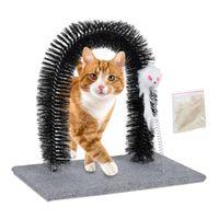 relaxdays Kratzbogen für Katzen mit Spielmaus