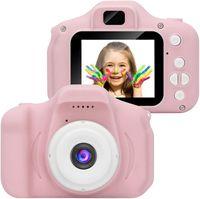 Kinder Kamera,Mini wiederaufladbare Kinder Digitalkamera Stoßfeste Video Camcorder Geschenke für 3-8 Jahre Jungen Mädchen,8MP HD Video 2 Zoll Bildschirm für Kinder Rosa