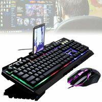 LED Beleuchtete Tastaturen Gaming Tastatur & Maus Tastatur Set für PC Laptop Weiß USB Kabelgebundene Tastaturen