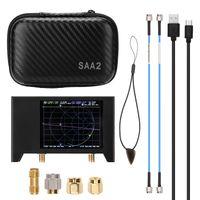 2,8-Zoll-Bildschirm 3G Vector Network Analyzer SAA-2 NanoVNA V2 Antennenanalysator Kurzwellen-HF-UKW-UHF mit Eisengehaeuse