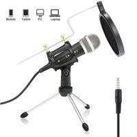 Profi Podcast Set Studiomikrofon Großmembran Kondensatormikrofon Tragbares Mini Mikrofone Geeignet für Computer, Handy, Tablet