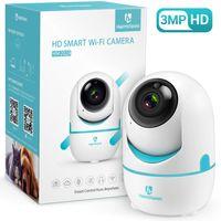 HeimVision HM202A 1536P WLAN Kamera Überwachungskamera Innen, 3MP 360°Schwenkbare HD Babyphone mit Nachtsicht, Baby Kamera mit Bewegungserkennung, 2 Wege Audio, Indoor Kamera für Baby/Haustier/Zuhause, weiß