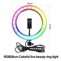 Vlog Selfie Kalawen Ringlicht mit Stativ 10 Zoll // 25cm Selfie Ringleuchte Licht Set mit 11 Beleuchtungsmodi LED Ring Light mit 2 Handyhalterung Fernbedienung und Bluetooth f/ür Makeup Video