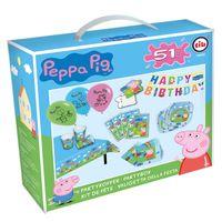 XXL Party Geburtstag Set | Peppa Wutz | Peppa Pig | Partykoffer 51 Teile