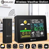 Digoo Funk Wetterstation LCD Wettervorhersage Thermometer Barometer Außensensor