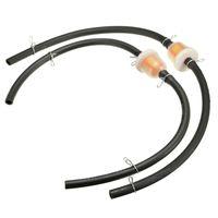 2x Motorrad Roller 6mm Benzinfilter Kraftstofffilter Schlauch mit Schellen DE