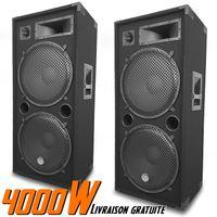 "Ein Paar passiver Lautsprecher klingt PA 2x15 ""/ 38cm 3-Wege-Bassreflex 2x2000W LSC215"
