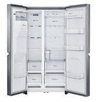 LG GSL481PZXZ, Freistehend, Edelstahl, American door, LED, 601 l, T