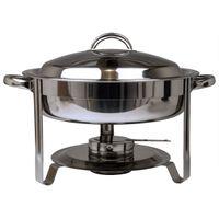 Edelstahl Speisenwärmer Runder Warmhaltebehälter Chafing Dish 3,5 Liter