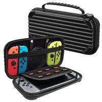 Lammcou Tasche für Nintendo Switch Tragbare Reisetasche Schutzhülle für Nintendo Switch mit größerem Speicherplatz und 10 Spielkarten for Nintendo Switch Carry Case - Schwarz