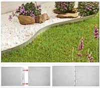 Rasenkante 13cm verzinkt 32,90m Rasenkantenprofile Beeteinfassung Beetumrandung