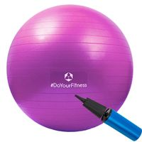 Gymnastikball / Sitzball - 65 cm berstischer & ideal als Büroball einsetzbar lila