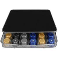 Kapselhalter mit Ständer für Kaffeemaschine Schublade für 30-60 Kapseln Kapselspender Kapselsständer Kaffeekapselhalter