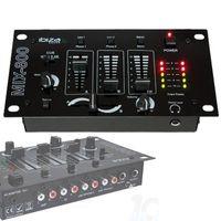 DJ-Kopfhörer Sound + MIX-800 IBIZA Mischer + 2 Mikrofone Dynamische Schwarz