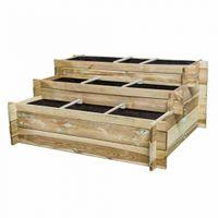 Siena Garden D71524 Hochbeet-Treppe Hugo 120x100x54cm, 3 Stufen (NIKOLE)