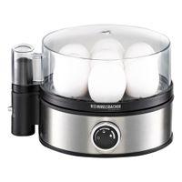 Eierkocher ER 400, Edelstahl, für 1-7 Eier, elektronische Kochzeitüberwachung, Signalton, Überhitzungs- und Trockengehschutz, Messbecher mit Eipick