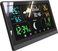 Wetterstation Thermometer Barometer Touchdisplay Innen+Außen Messung 405250