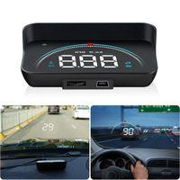 Head Up Display Auto, HUD Display OBD II +GPS LCD Head Up Display Geschwindigkeitsmesser Spannung Wassertemperatur Höhe Überdrehzahlalarm