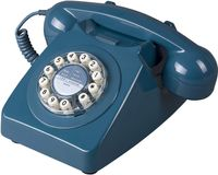 Wild & Wolf heimtelefon 746 Retro 21,5 x 23 cm blau