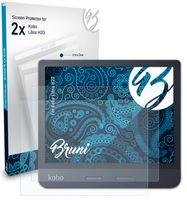 Bruni Basics-Clear 2x Schutzfolie kompatibel mit Kobo Libra H2O Folie