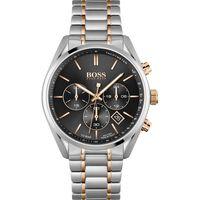 Hugo Boss Herren Chronograph Schwarz/Silber Edelstahl Armbanduhr | 1513819