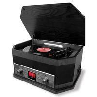 ION Octave 8-in-1 Retro Plattenspieler DAB + Bluetooth Schwarz