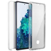 Schutzhülle für Samsung Galaxy S20 FE, Vorder- + Rückseite – Transparent