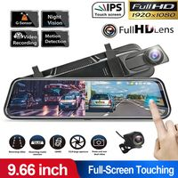 "Dash Kamera Auto Video Recorder Recorder Kamera 9,66 ""Dual Lens Stream Media Touchscreen G-Sensor Fotografie Fahrzeuge"