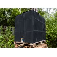IBC 1000l Tank ☼ Sonnenschutzhaube grau f Container Cover Plane Abdeckplane ☼