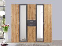 Wimex Kleiderschrank Schlafzimmer Schrank Diver plankeneiche graphit 6-türig 225cm