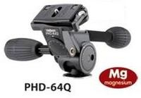 Velbon PHD-64Q, Schwarz, 810 g, Magnesium