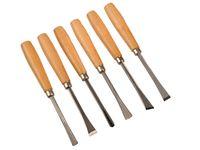 6tlg Set  Schnitzmesser Schnitzwerkzeug Beitel