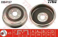 Trw Bremstrommel Hinterachse DB4157